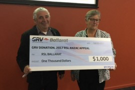 Ballarat Greyhound Racing Club donates to RSL