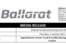 Appointment of new Track & Facility Manager and new Track Curator