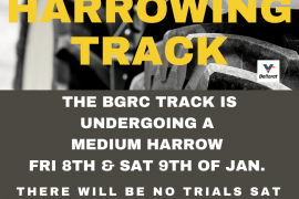 BGRC HARROWING TRACK | FRI 8th & SAT 9th JAN 21